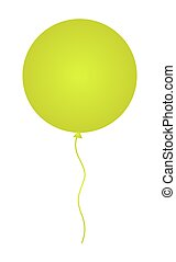 Shiny Yellow Balloon Vector