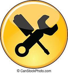 Shiny Yellow Manage Settings Button - Illustration of Manage...