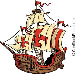 Ship - An old Spanish galleon