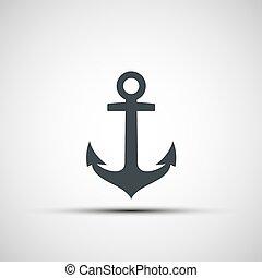 Ship anchor logo.