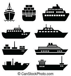 Ship and boat icons