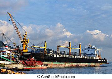 ship at shipyard dock