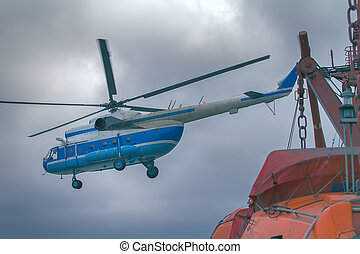 ship-based helicopter