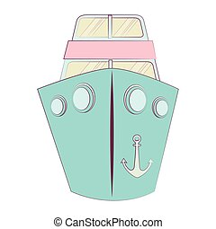 ship boat cruise isolated icon