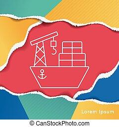 ship boat line icon