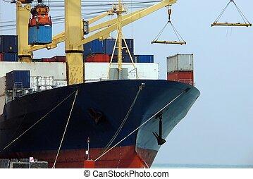 Ship closeup - Cargo ship closeup