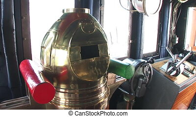 Ship control room - Control room of the Palinuro, a...