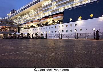 Ship Docked at Sydney Opera Quay - Image of a large ship...