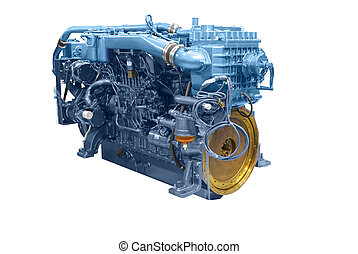 ship engine 2 - ship engine isolated