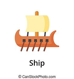 Ship flat vector illustration. Single object. Icon for ...