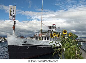 ship for walks on Lake Geneva, Switzerland
