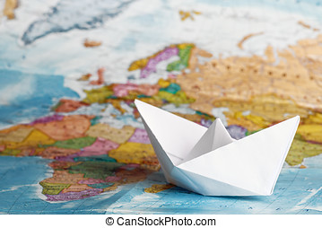 ship from a paper on the geographical