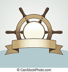 Ship Helm Vector Background