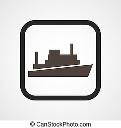 Ship Icon Flat Simple Vector illustration