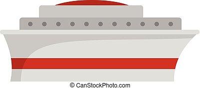 Ship icon, flat style