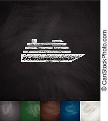 ship icon. Hand drawn vector illustration