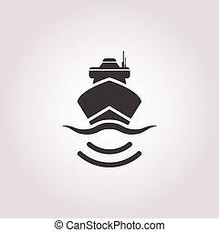 ship icon on white background