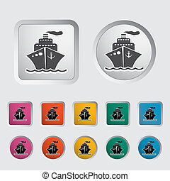 Ship icon. Vector illustration EPS.