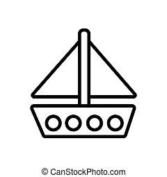 Ship icon vector illustration photo