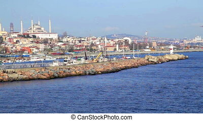 Ship in Bosporus. Istanbul