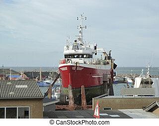 ship in dry-dock