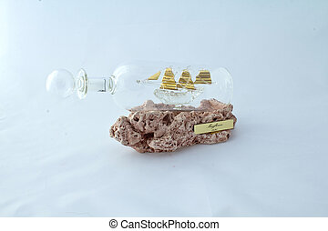 ship in glass bottle
