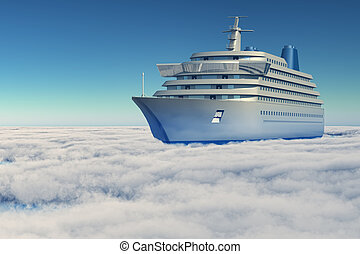 ship in the clouds