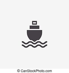 ship in the sea icon