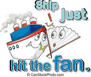 Ship just hit the fan illustration