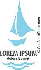 Ship Logo Sign - Cargo ship logo. Cargo ship. Vector design