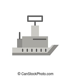 ship military force isolated icon