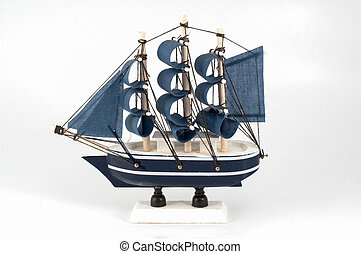 Ship model isolated