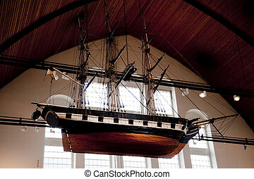 ship model - model of an old sailing ship