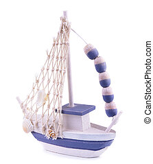 Ship model on a white background