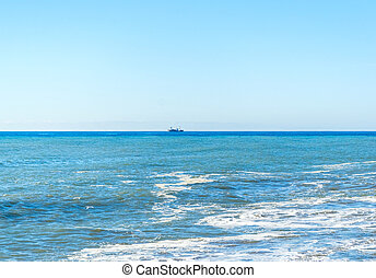 Ship n the Mediterranean sea, Russia