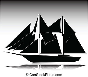 ship old illustration
