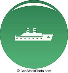 Ship passenger icon vector green
