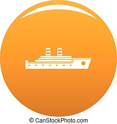 Ship passenger icon vector orange