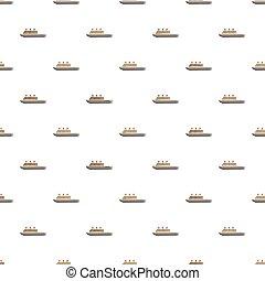 Ship pattern, cartoon style