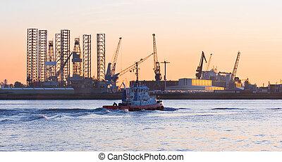 Ship-repair industry and tug-ship