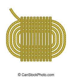 Ship Rope Roll Icon Isolated on White Background