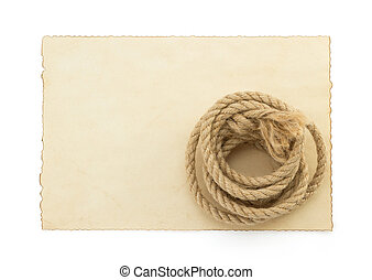 ship ropes  on ancient paper