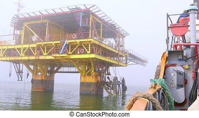 Ship sailed from the offshore gas production platform