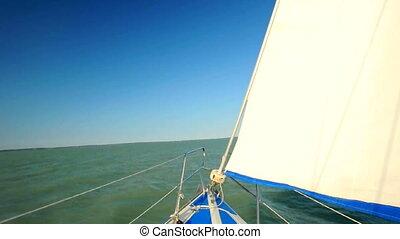 Ship sailing on water
