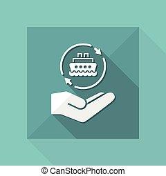 Ship services - Minimal modern icon