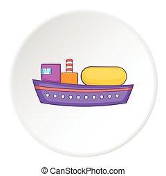 Ship tank icon, flat style
