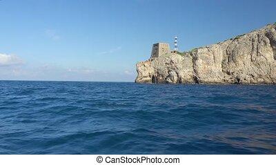 Ship trip around Capri Island in Italy