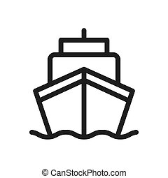 Ship vector icon in modern design style for web site and mobile app