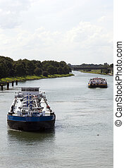 ship waiting entering the docks