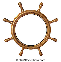 Ship Wheel Blank - Ship wheel with a blank editable center...
